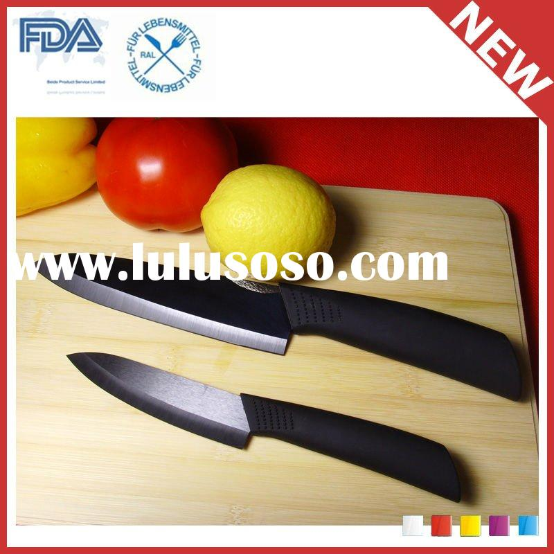 "Top Quality Best Fashion 3"" 8"" White Black Mirror Ceramic Knife"