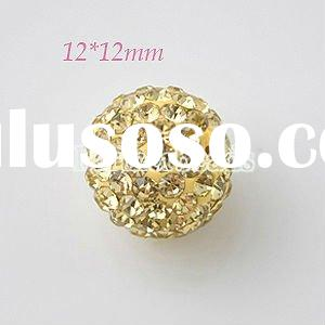 Wholesale Multicolor rhinestone ball beads for knot bracelets