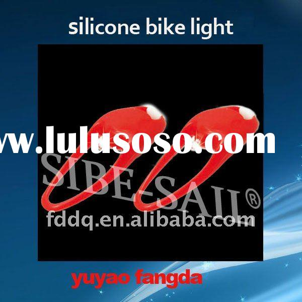 bicycle led tire flash light red and white led