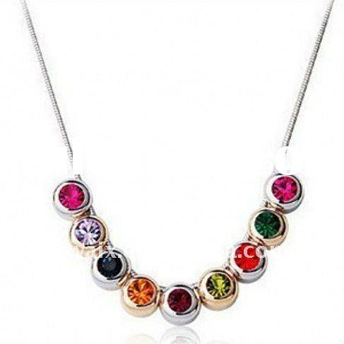 2011 Hot Selling Colorful Crystal Necklace