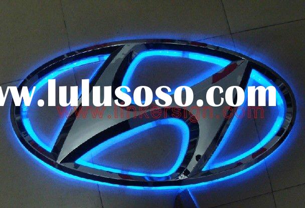3D illuminated led channel letter logo signage