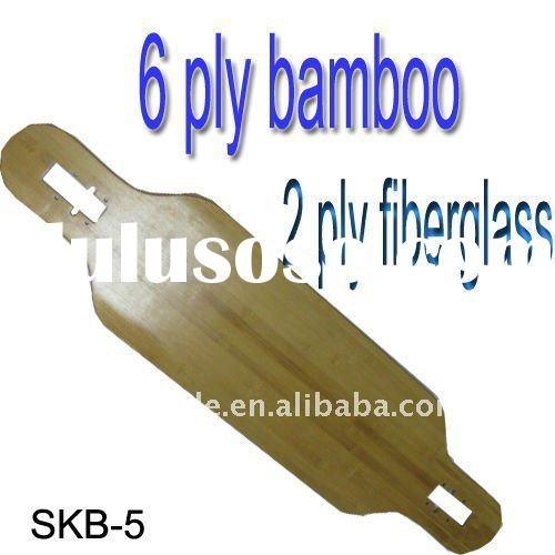 "9.5"" Skateboard Blank Decks with Bamboo and Fiberglass SKB-5"