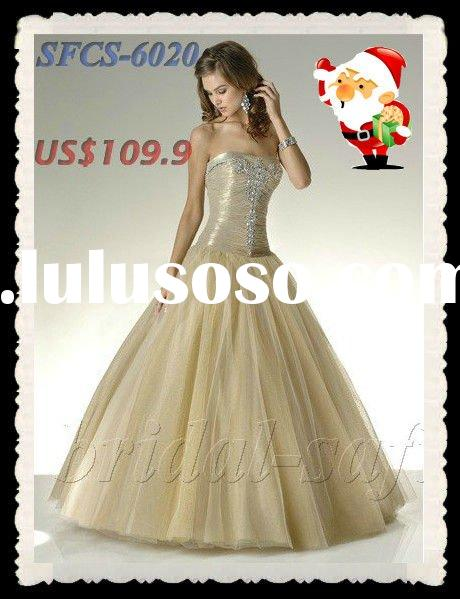 SFCS-6020 Christmas Ball dress 2012 New style prom gown Ball long dress