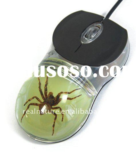 Unique and Real spider gift computer mouse