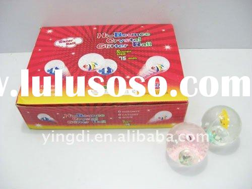 flashing glitter crystal bouncing ball (Gift .promotion toys .toy ball .bouncing ball)