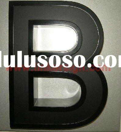 frontlit led acrylic letter signs with white-black face