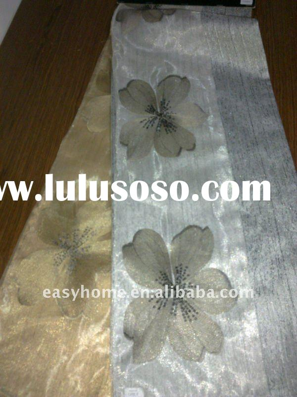 100% polyester fabric embroidered curtain