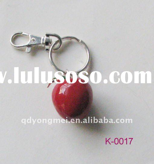 red apple shaped metal key chain manufactures fashion jewelry