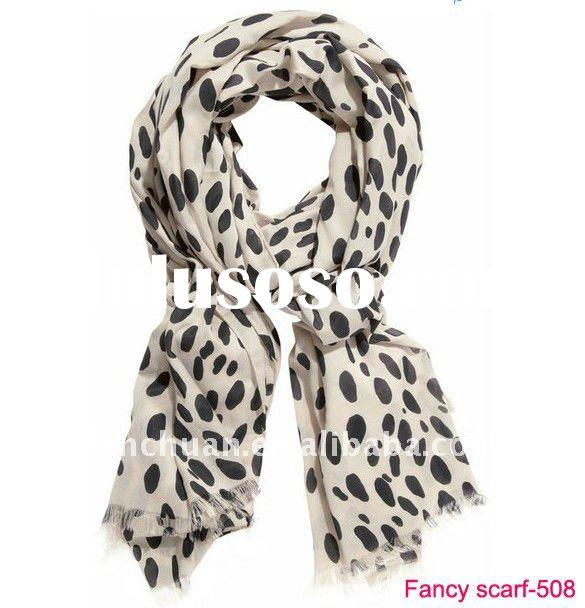 2012 multiple dots fashion scarf