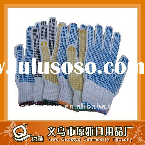 PVC dotted cotton glove