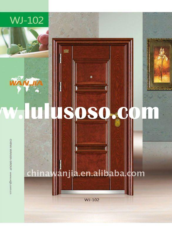 2012 Anti UV frost surface Best quality and Luxury Security Steel  Door