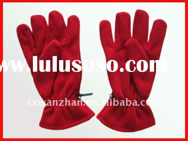 polyester promotion polar fleece gloves