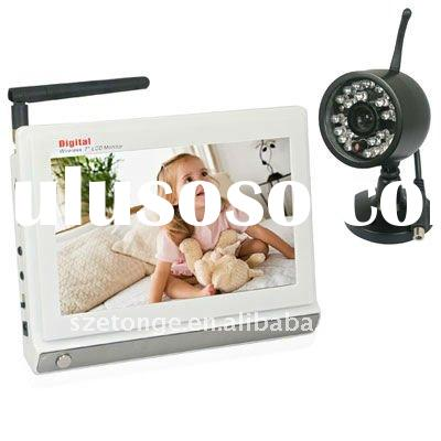 7inch LCD Screen 2.4GHz Wireless CCTV Camera