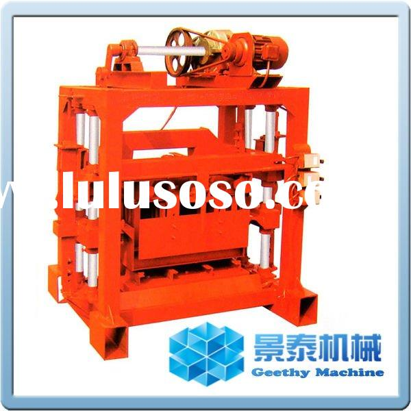QTJ4-40B2 manual concrete hollow block making machine