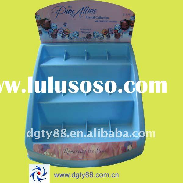 Vacuum forming plastic display for cosmetic