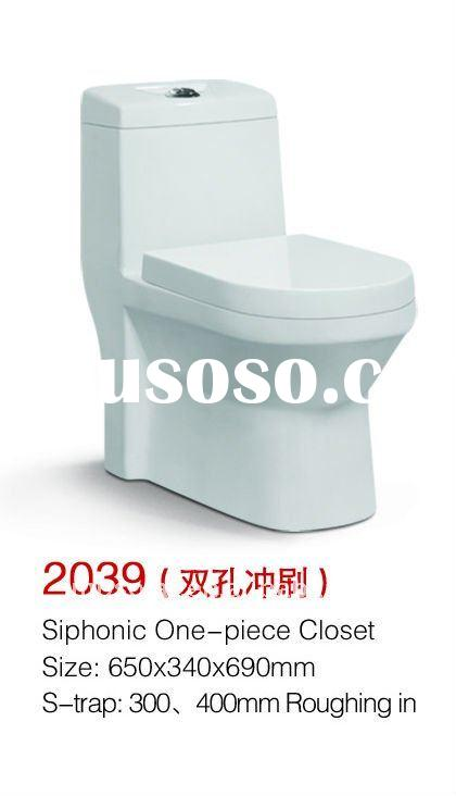 2011 hot model Model MP 2039 siphonic one piece toilet