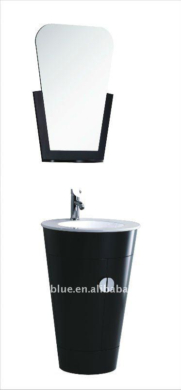 European Style PVC Painted Bathroom Furniture With Mirror--MC507