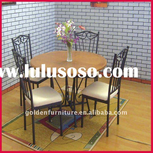 round and high quality dining table and chair set