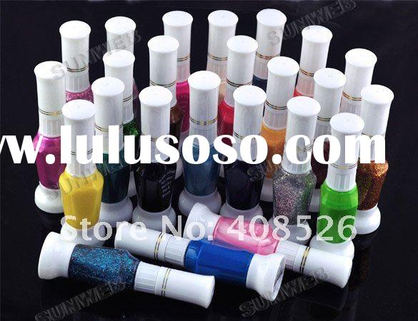 24 Glitt Color Nail Art 2-way pen brush varnish polisher
