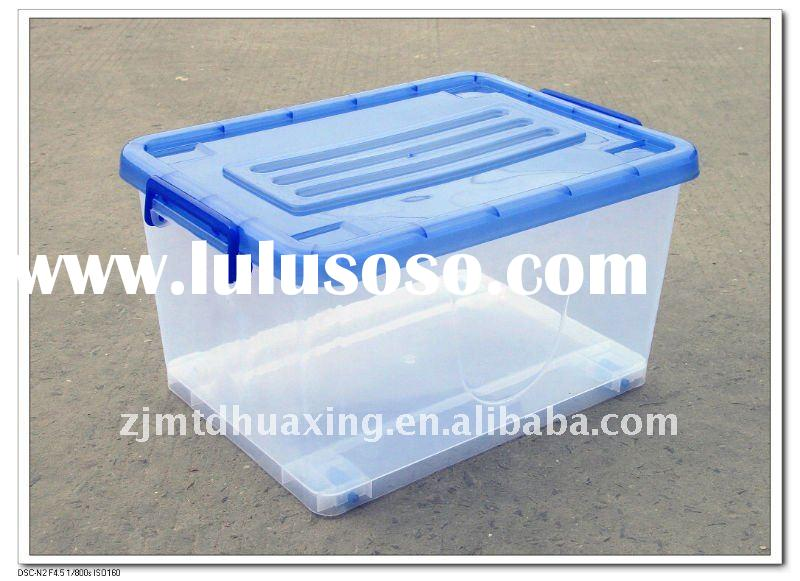 32L Plastic Storage Box with Handle and Wheels