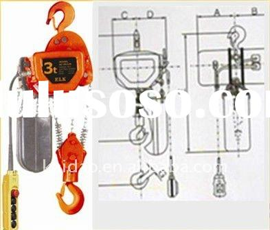 5T electric chain hoist with hook