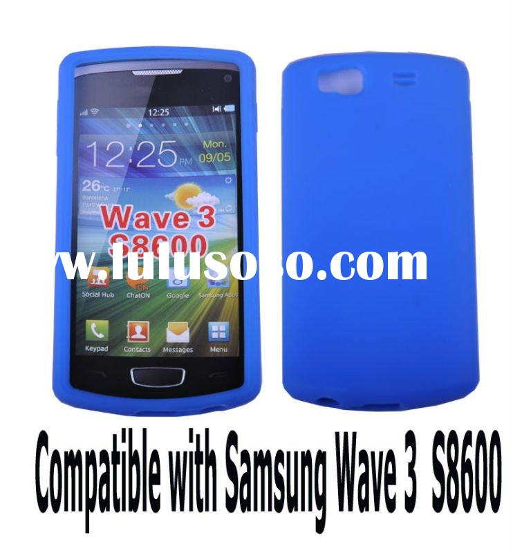 Blue silicon case for samsung wave 3 S8600