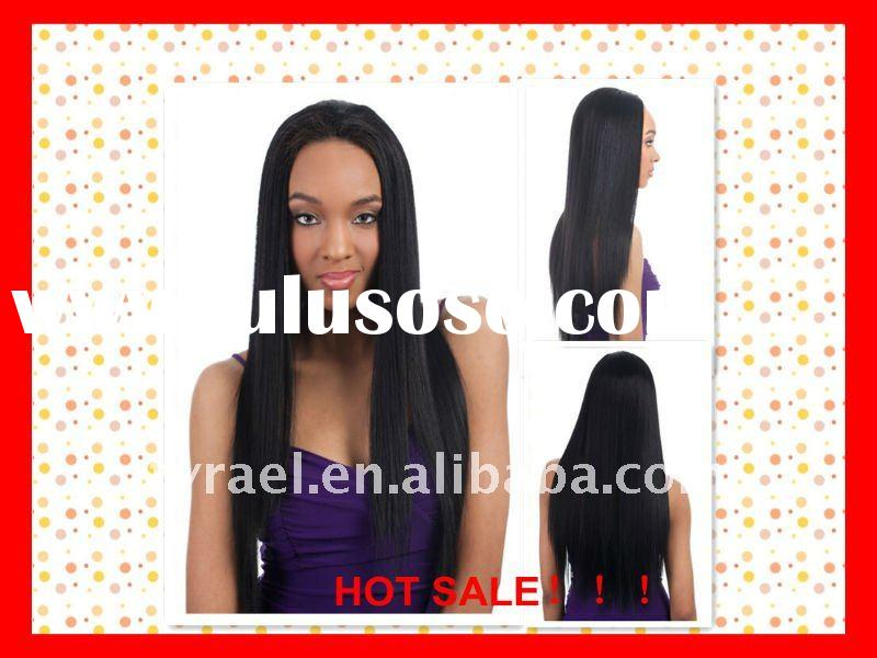 Hot sale!silky striahgt glueless full lace wig for black women