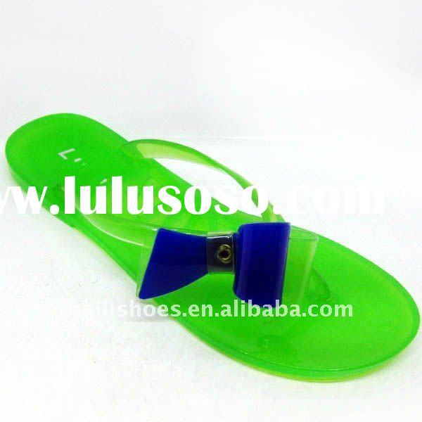 New fashion ladies flat jelly shoes factory price