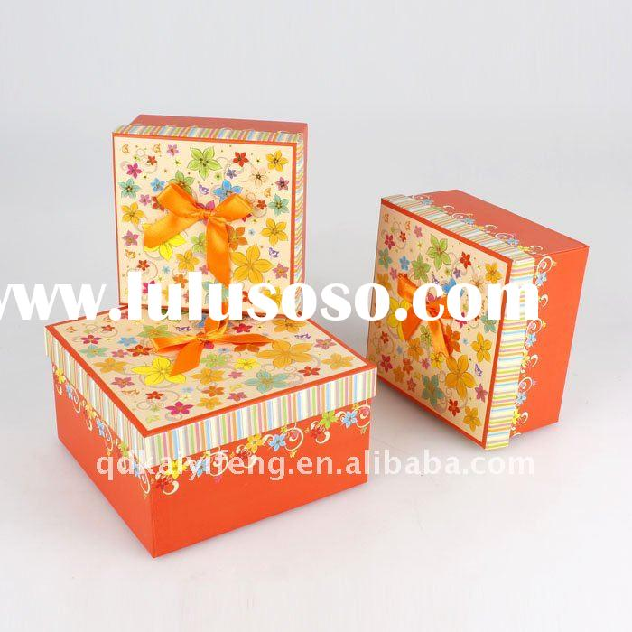 elegant paper Christmas gift packaging box