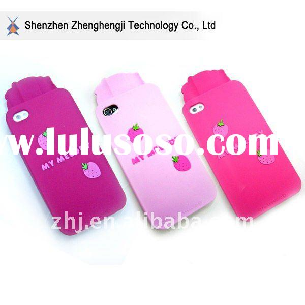 fashion design for 4G silicone iphone case in dripping mold logo