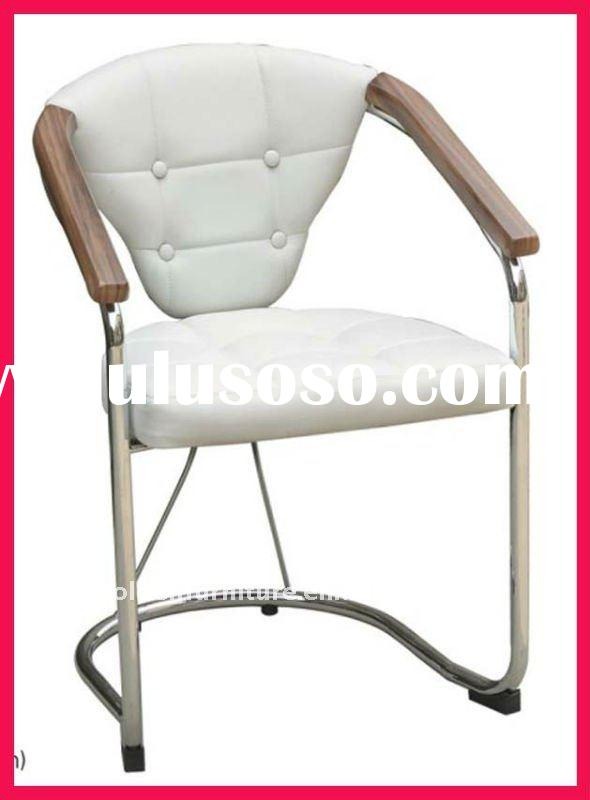 leisure and modern leather chair with armrest
