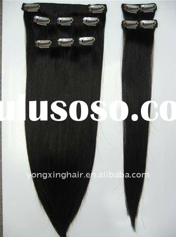 silky straight wave clip-in hair extension
