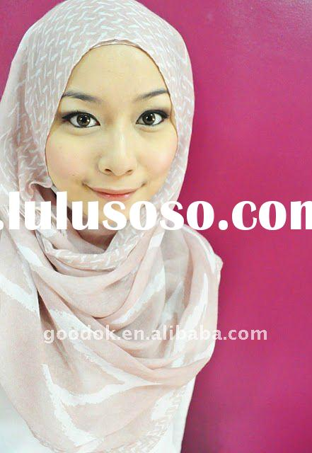 Custom Design Arab Muslim/Islamic Hijab Headscarf OEM