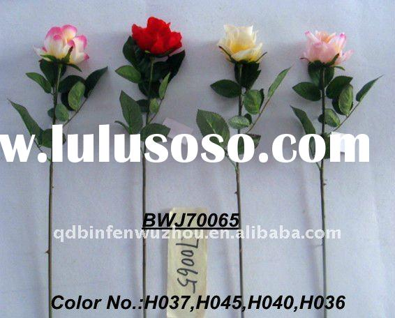 Single Artificial Plastic Roses Stems