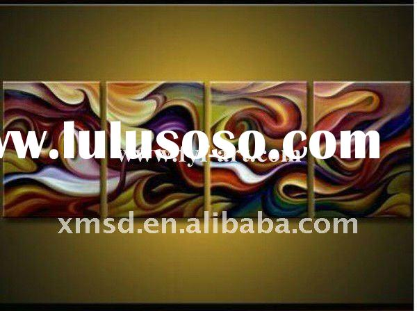 handpainted abstract art oil painting on canvas