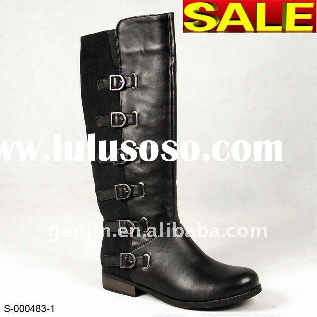 2011 women flat boots lady shoes