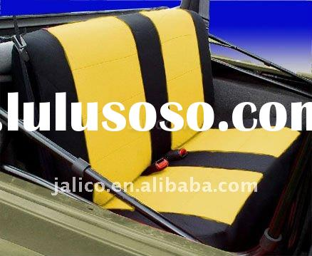 Car Custom Fit Neoprene Rear Seat Covers for Jeep 1997 - 2002 Yellow / Black