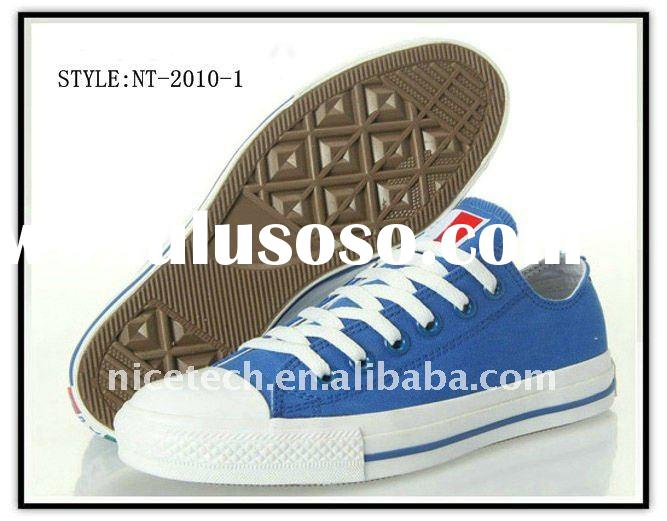 Vulcanized Canvas Shoes With Rubber Sole