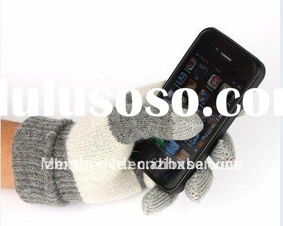 2012 hotsale smart full touch screen gloves for iPone, Tablet PC, ATM divices