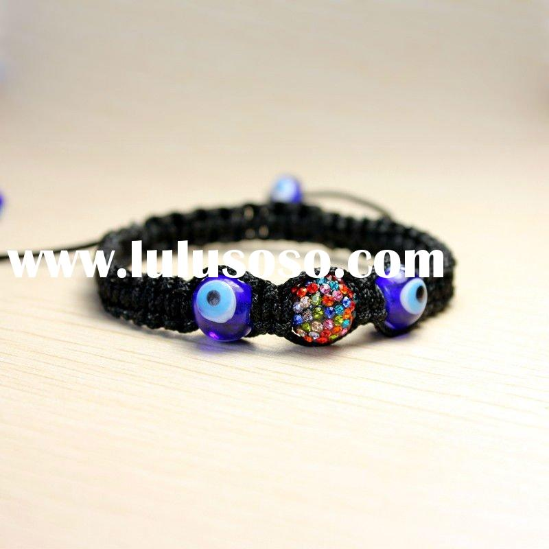 Cheap evil eye shamballa bracelet