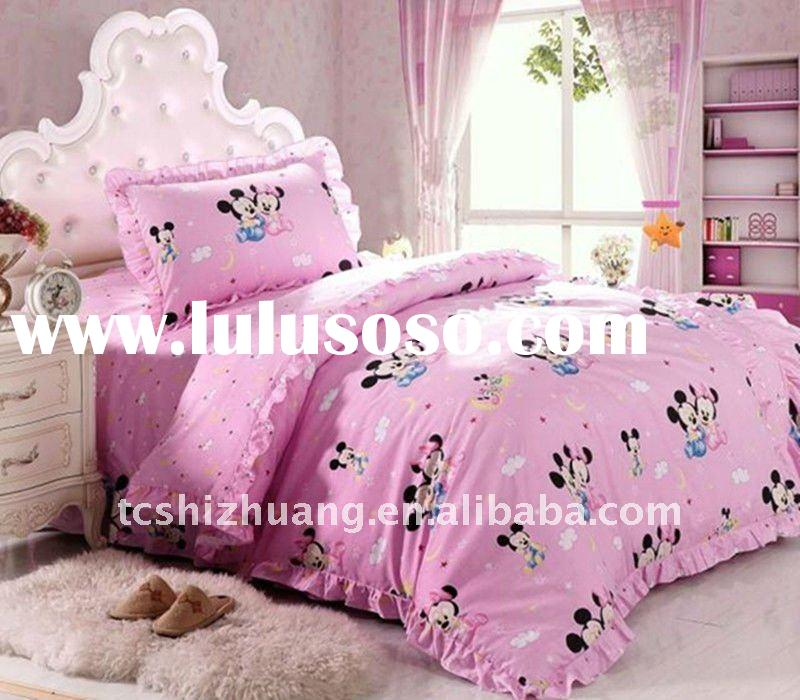 New arrival!! 100% cotton mickey mouse printed children duvet bedding sets