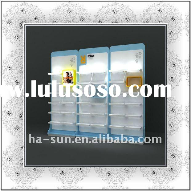 HS-three sections wall shoe display rack