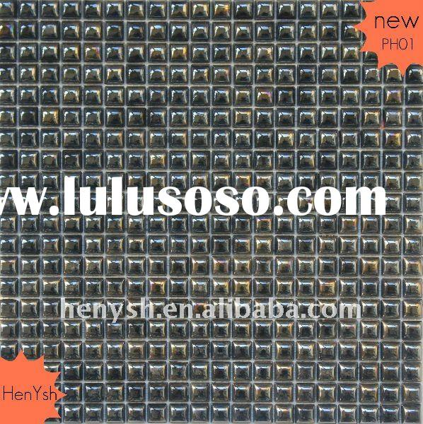 Glass Mosaic,wall tile,iridescent black colors PH01 for swimming pool,spa