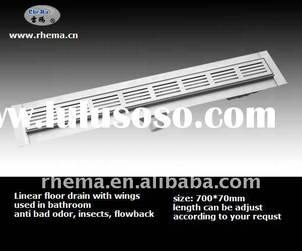 HOT!!! linear / long floor drain with wings in boothroom