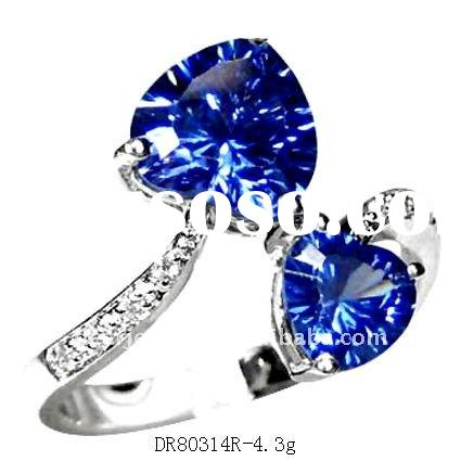 High Polish Silver Jewelry Millennium Cut stone rings DR80314R Paypal