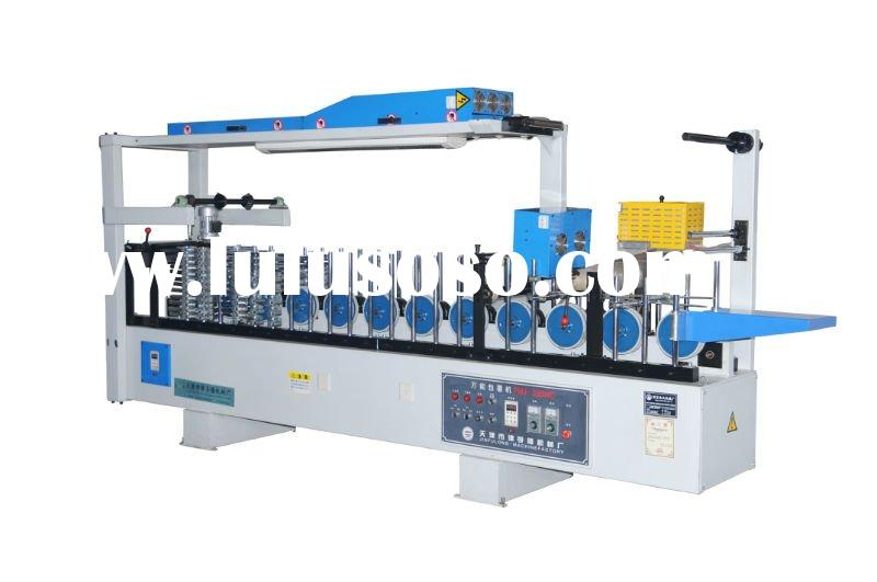 Hot and cold glue profile wrapping machine FMJ-300WC