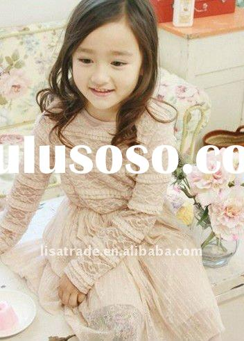 latest 2012 Spring baby dress, kids' dress, cute & charming girls' dress,