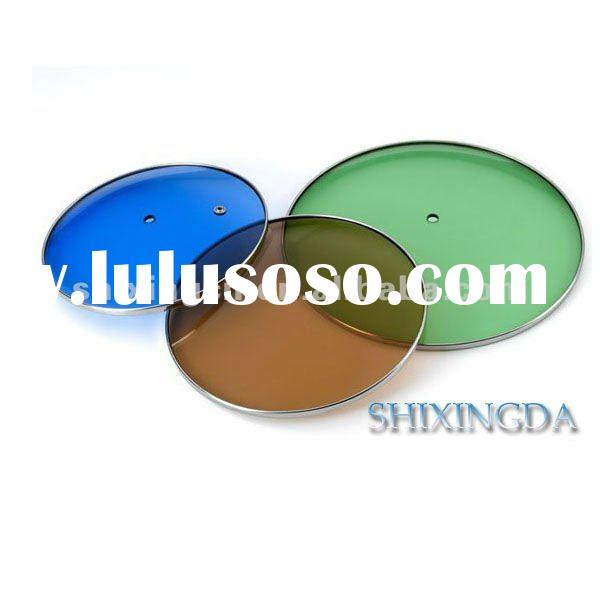 2011 new multi-colored glass lids for pots