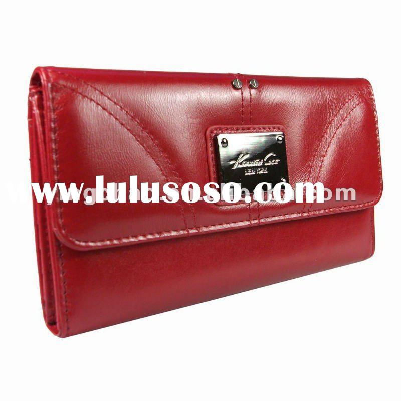 2012Best selling Genuine Leather Womens Credit Card Clutch Wallet Purse in Choice of Colors