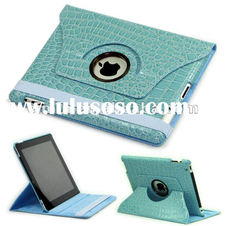 360 Degree Rotating Stand Leather Case for ipad 2